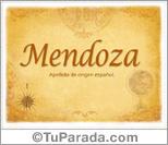 Origen y significado de Mendoza
