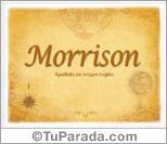 Origen y significado de Morrison