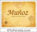 Origen y significado de Muñoz