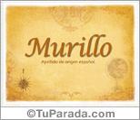 Origen y significado de Murillo