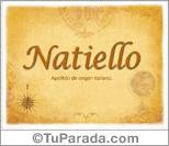 Origen y significado de Natiello
