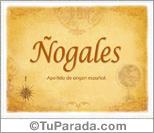 Origen y significado de Ñogales