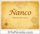 Origen y significado de Ñanco