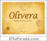 Origen y significado de Olivera