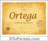 Origen y significado de Ortega