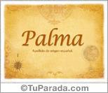 Origen y significado de Palma