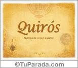 Origen y significado de Quirós