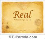 Origen y significado de Real