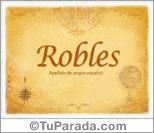 Origen y significado de Robles