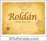 Origen y significado de Roldán