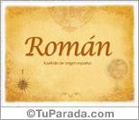 Origen y significado de Román