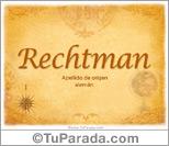 Origen y significado de Rechtman