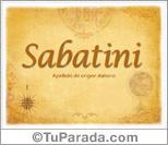 Origen y significado de Sabatini