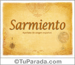 Origen y significado de Sarmiento