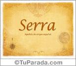 Origen y significado de Serra