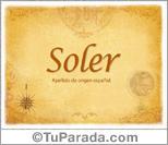 Origen y significado de Soler