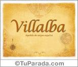 Origen y significado de Villalba