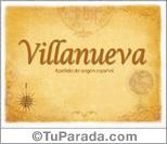 Origen y significado de Villanueva