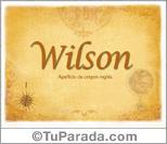 Origen y significado de Wilson