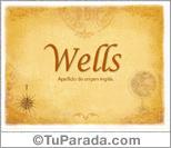 Origen y significado de Wells