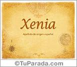 Origen y significado de Xenia