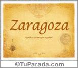 Origen y significado de Zaragoza