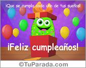 Cumpleaños para amigos - Tarjetas postales: Tarjeta de cumpleaños