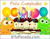 Cumpleaños para amigos - Tarjetas postales: Tarjeta de feliz cumple de locos