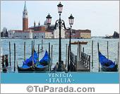 Foto de Venecia con góndolas - Italia