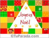 Tarjeta de Navidad en francés