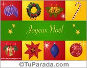 Tarjeta de felices fiestas en francés