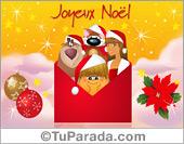 Tarjeta de felicidades en francés