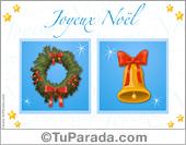 Tarjetas, postales: Tarjetas de Navidad en francés