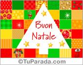 Tarjeta - Tarjeta de Navidad en italiano