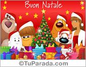 Tarjeta - Ecard de Navidad en idioma italiano