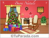 Tarjeta de Tarjetas de Navidad en italiano