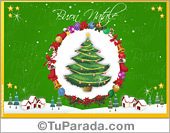 Tarjetas de Navidad en italiano - Tarjetas postales: Tarjeta de felicidades en italiano