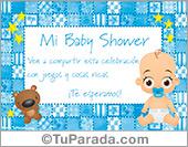 Tarjeta de Baby Shower celeste