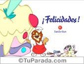 Cumpleaños con humor - Tarjetas postales: Torta virtual