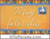 Tarjetas postales: Muy feliz día decorado con barco