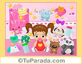 Imagen de niña con juguetes