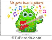 Me gusta tocar la guitarra