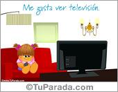 Me gusta ver televisión