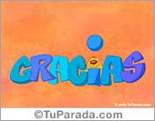 Gracias - Tarjetas postales: Gracias con animación