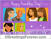 Greeting ecards: Friendship Day