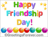 Friendship day greeting ecard