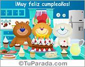 Tarjeta - Saludo de cumpleaños de grupo