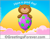 Greeting ecards: A good day ecard