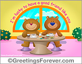 Ecards: Bears friendship free ecard