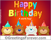 Ecard - Birthday bears ecard